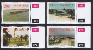 Namibia Centenary of Swakopmund 4v with margins with Control Numbers SG#592-595