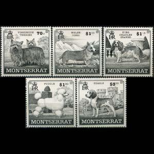 MONTSERRAT 1999 - Scott# 989-93 Dogs Set of 5 NH