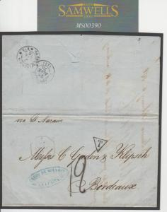MS390 1876 VENEZUELA FRENCH PO ABROAD Maritime Mail Transatlantic Paquebot Cover