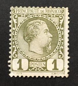 Monaco 1885  #1, Charles III, Used-2 Pics.
