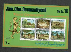 Somalia Sc#444-449a M/NH/VF, Complete Set, Animals, Cv. $40.30