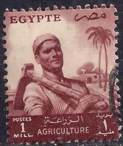 Egypt 1 mil Brown Agriculture used stamp ( 933 )