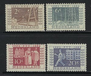 Netherlands Scott 336-339 Mint Hinged