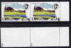 Lesotho 1980-81 25s on 25c with superb surcharge set-off ...