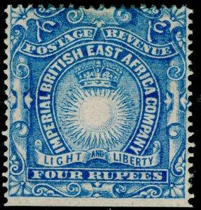BRITISH EAST AFRICA SG18, 4r ultramarine, M MINT. Cat £12.