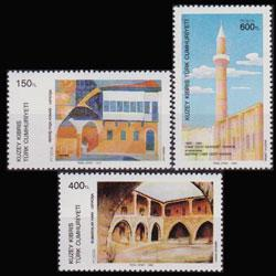 TURKISH-CYPRUS 1989 - Scott# 242-4 Paintings Set of 3 NH