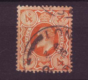 J19706 Jlstamps 1909-10 great britain used #144 king