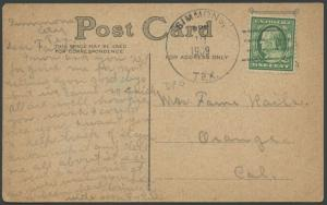 TEXAS LIVE OAK COUNTY (1909 Simmons) DPO 1908-1928 Machine Cancel #550
