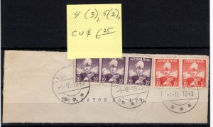 Greenland #4 & 5 Used On Piece CAT VALUE $6.25