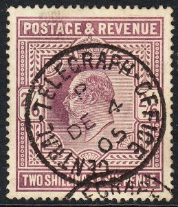 SG 262 2/6d Dull Purple (OCP) M49 (-)  VFU  dated Central Telegraph Office CDS.