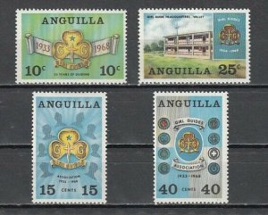 Anguilla, Scott cat. 40-43. Girl Guides, 35th Anniversary issue. LH *