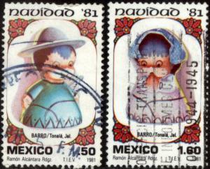 MEXICO 1252-1253, Christmas Holidays. Used. (874)