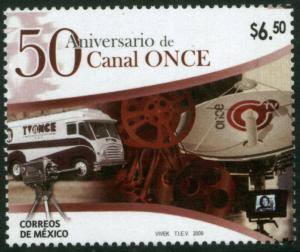 MEXICO 2617, $6.50 Pesos. Channel 11 50th Anniv. MNH.