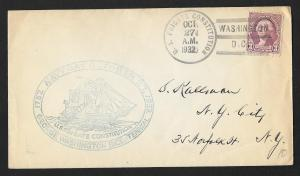 UNITED STATES Event Cover Navy Day 1932 US Frigate Constitution