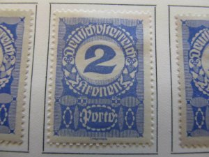 A13P25F166 Deutschosterreich German Austria 1920-21 2kr gray paper fine MH*