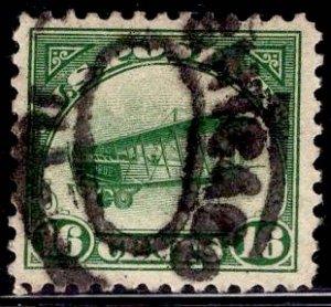 US Stamp #C2 15c Green Jenny USED SCV $30