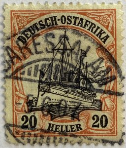 AlexStamps GERMAN EAST AFRICA #26 VF Used
