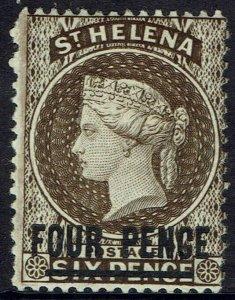 ST HELENA 1884 QV 4D WMK CROWN CA