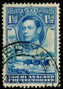 BECHUANALAND SG120, 1½d dull blue, FINE USED, CDS.