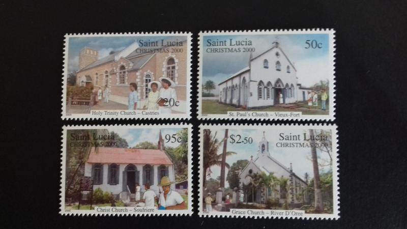 St Lucia 2000 Christmas - Churches Mint