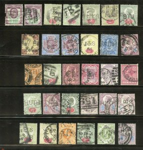 GREAT BRITAIN FABULOUS LOT OF PERFIN STAMPS VICTORIA TO GEORGE V USED AS SHOWN
