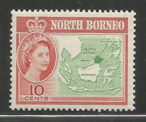 NORTH BORNEO, 284, H, MAP