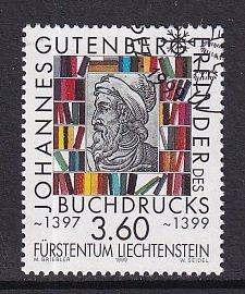 Liechtenstein   #1159   used   1999  Gutenberg   letter-press printing