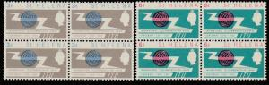 ST HELENA 1965 ITU set blocks of 4 MNH.....................................65939