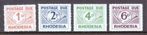 Rhodesia - Scott #J5-J8 - MNH - SCV $2.55