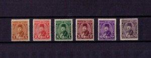 Egypt MLH Sc242,243,245,246,247,248 King Farouk (1944) Six Total VF