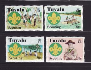 Tuvalu 50-53 Set MNH Scouts (D)