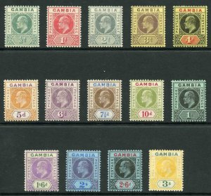 Gambia SG72/85 1909 KEVII Colour Change Wmk Mult Crown CA Set of 14 M/M