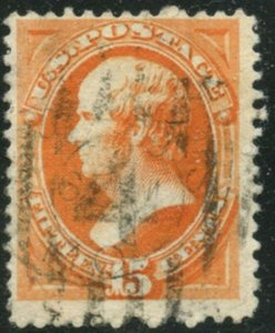 US Sc#189 1879 15c Red Orange ABN Soft Porous Paper Fine Centered Used