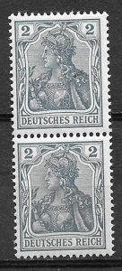 COLLECTION LOT #717 GERMANY # 65C MNH PAIR+ 1902 CV = $13.50