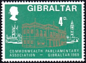 Gibraltar # 219 mnh ~ 4p Government House