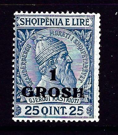 Albania 50 Hinged 1914 surcharge