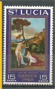 ST. LUCIA, 1968, MH 15c, Easter, Scott 232