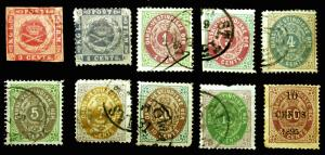 Danish West Indies #2-#15 Nice Early Lot 1866-95