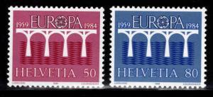 Switzerland Scott 747-748 MNH** Europa 1984 stamp set