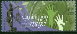 MEXICO 2720 Campaign Against Violence towards Women. MINT, NH. VF.