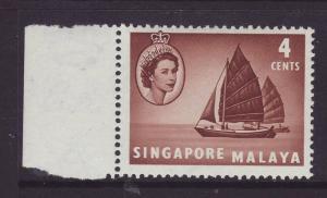 1955 Singapore 4c U/Mint