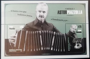 V) 2018 ARGENTINA, TANGO, TRIBUTE TO ASTOR PIAZZOLLA, MUSIC, MNH