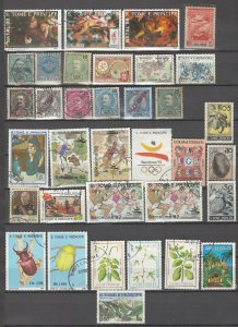 COLLECTION LOT # 2887 ST THOMAS & PRINCE 34 STAMPS 1881+ CLEARANCE CV+$63