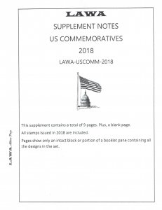 2018 US COMBINED SUPPLEMENT – LAWA Album Pages