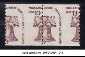UNITED STATES USA - 1975 LIBERTY BELL SCOTT#1595 2V ERROR MISPERF MINT NH