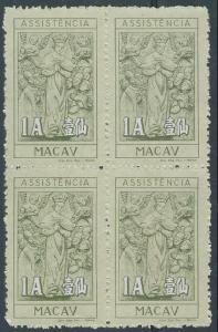 MACAU 1945 1a Assistencia block of 4 mint..................................60929