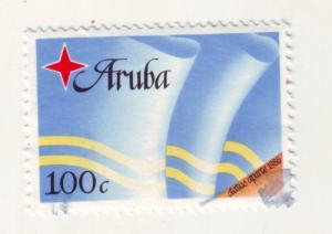 J11363 JL stamps 1986 aruba hv of set used #21 flag