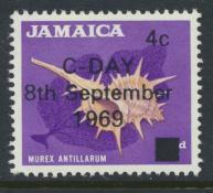 Jamaica SG 283 MH  SC# 282  Decimal Currency OPT see details