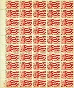 Scott #1199 1962 4 cent Girl Scouts GSA Full sheet of 50 , Mint NH