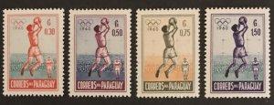 Paraguay 1960 # 556-59, MNH SCV $2.25